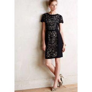 Maeve basalt lasercut eyelet floral sheath dress